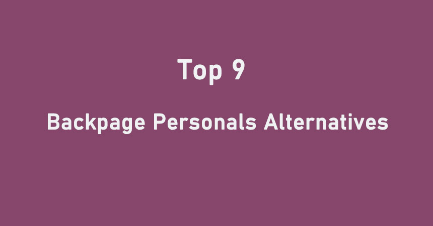 Backpage personals alternatives