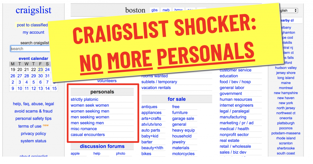 Are there any sites like craigslist personals